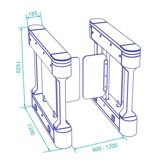 optical-swing-turnstile-ds210z-dimensions-y