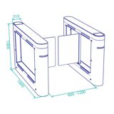 optical-swing-turnstile-ds212p-dimensions