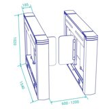 optical-swing-turnstile-ds213z-dimensions-y