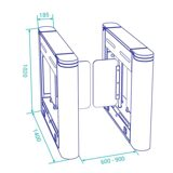 optical-swing-turnstile-ds212z-dimensions-y